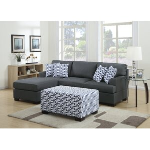 Bobkona Roman Reversible Sectional by Poundex