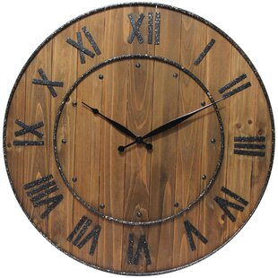 Wine Barrel Clock Wayfair