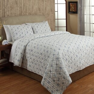 toile 2 piece quilt set - Toile Bedding