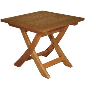 Lovely Terrace Mates Aspen Folding Square Side Table