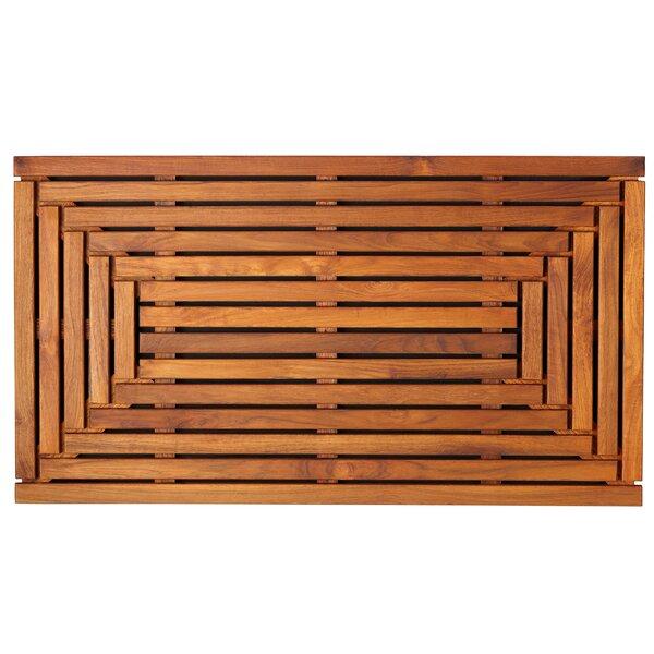 Teak Wood Shower Mat | Wayfair