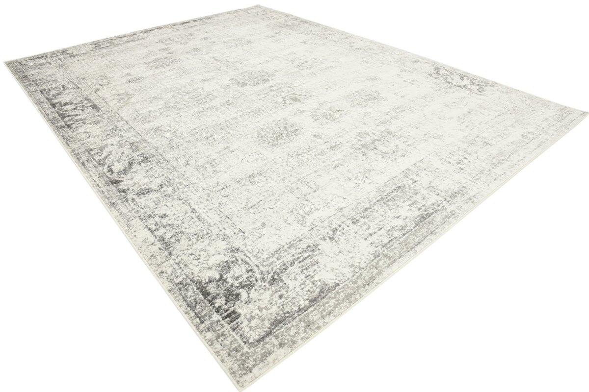 Brandt Machine Woven Gray Area Rug