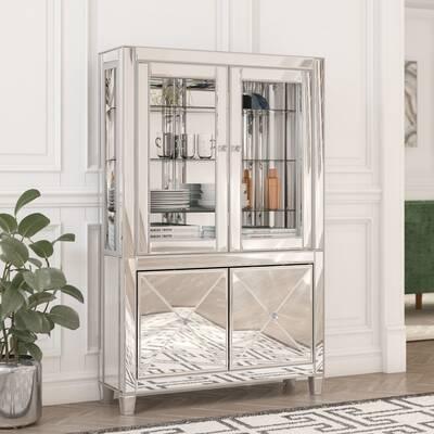 Adriana Lighted Curio Cabinet