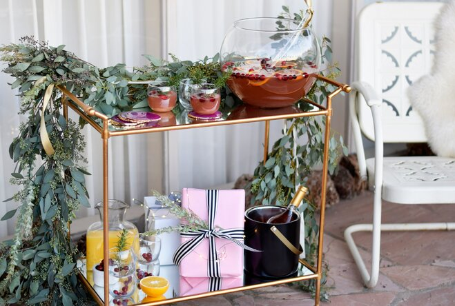 Holiday Bar Cart Inspo for West Coasters (or West Coast Wannabes