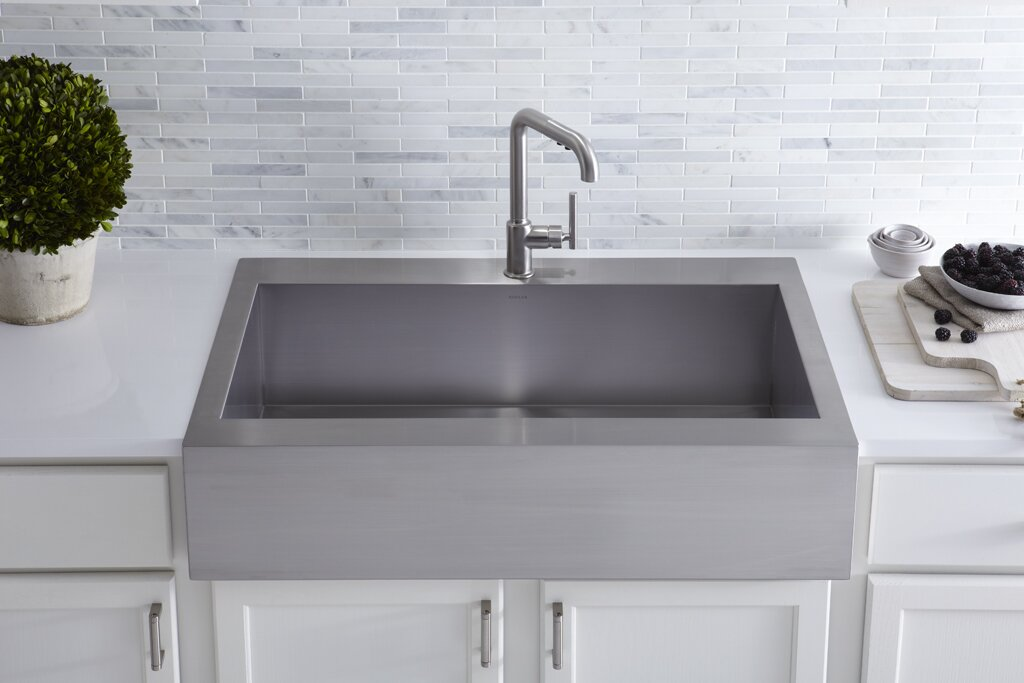 Kohler Vault Top-Mount Single-Bowl Stainless Steel Kitchen Sink ...