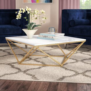 Faux White Marble Coffee Table Wayfair - Marble coffee table wayfair