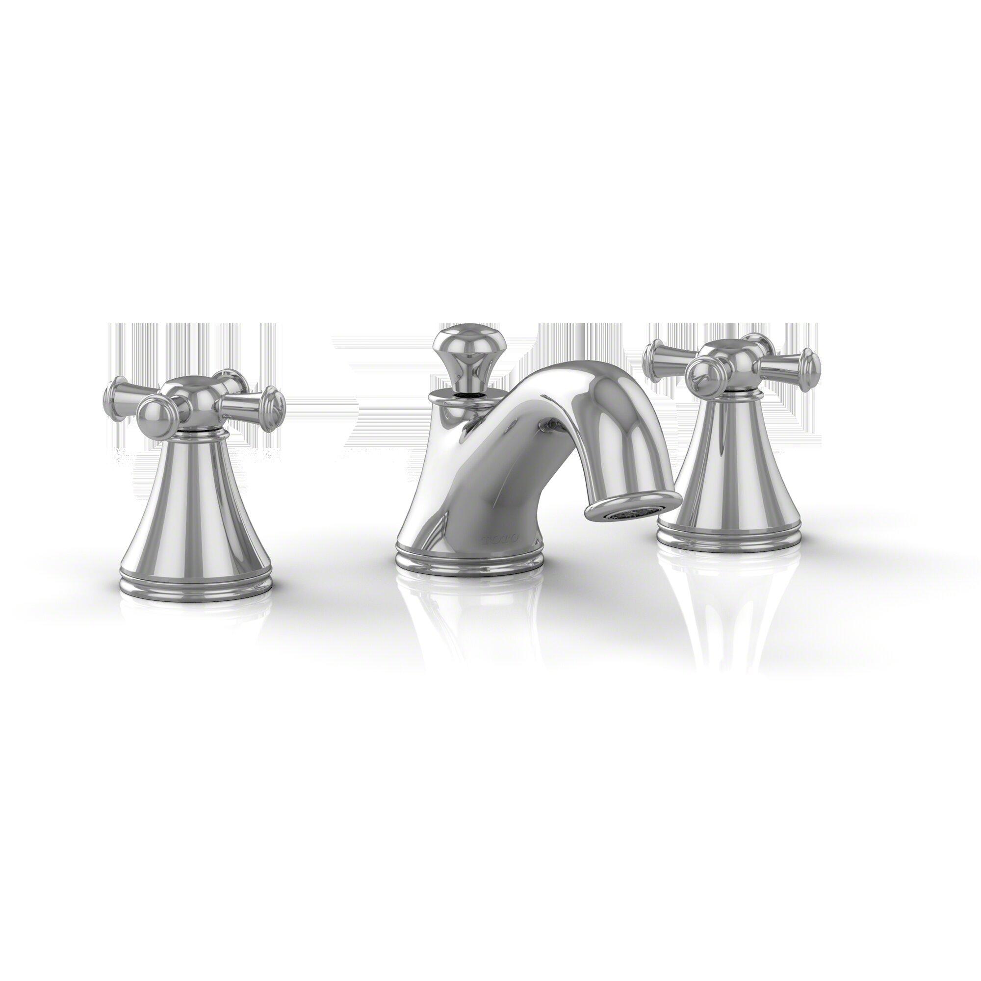 Toto Vivian Two Cross Handle Widespread Bathroom Faucet with Drain ...