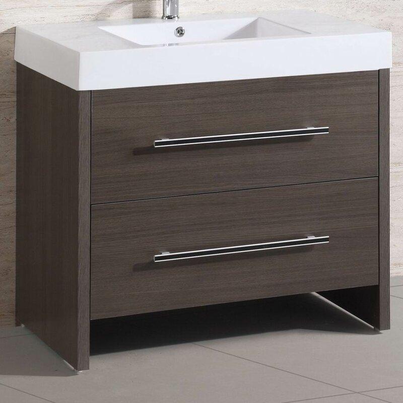 "Belvederebath 36"" Single Modern Bathroom Vanity Set"