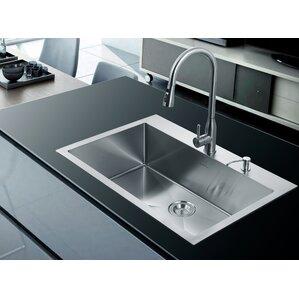 33 X 22 Single Drop In Kitchen Sink