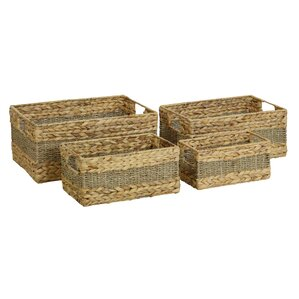 Wicker 4 Piece Basket Set