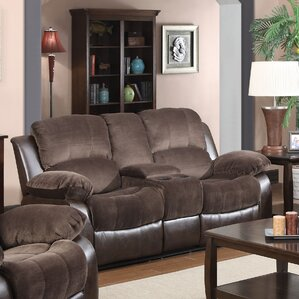COCO Double Reclining Sofa with Console by G..