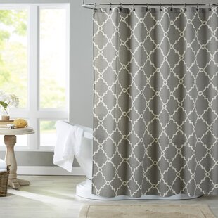 Gray And Beige Shower Curtain
