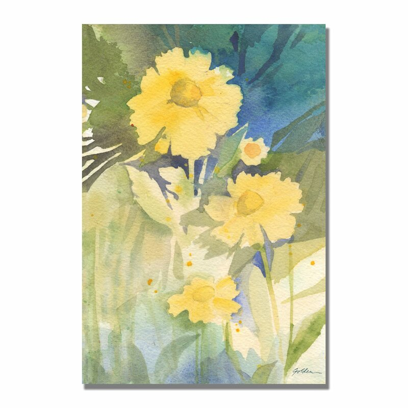 Sunshine Yellow By Sheila Golden Painting Print On Canvas