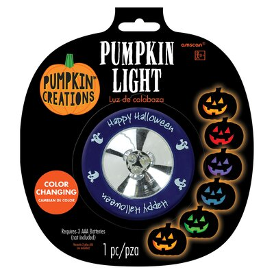 Halloween Color Changing Pumpkin Light Amscan