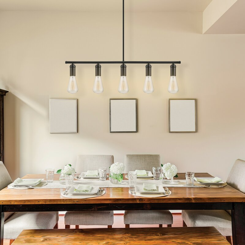 Kitchen Island Pendant Lighting: Novogratz X Globe Electric Chromeo 5-Light Kitchen Island