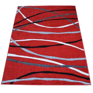 Red/Grey/Black Rug by Longweave
