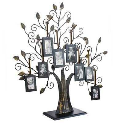 AdecoTrading 8 Opening Decorative Iron Tree Table Top Collage ...