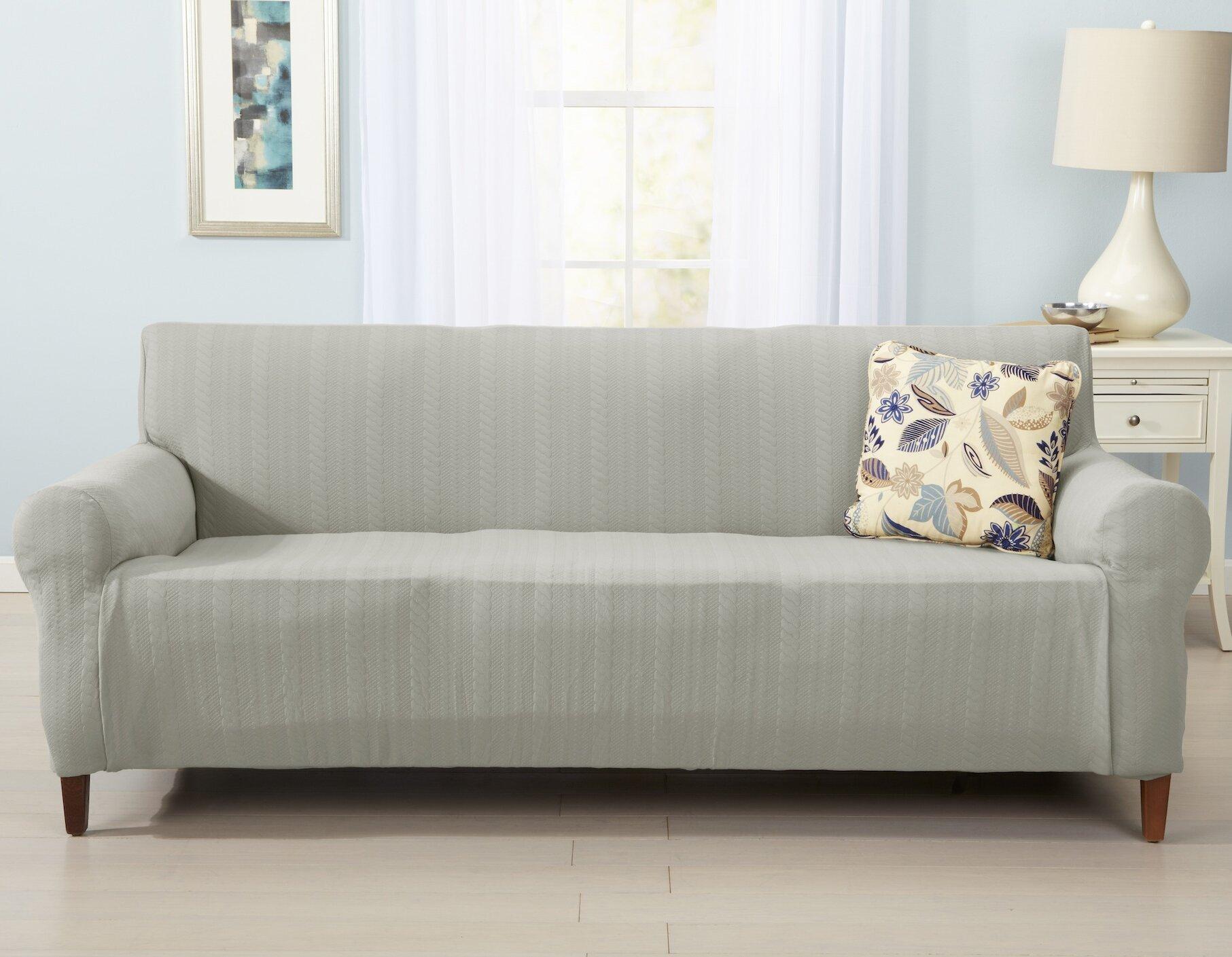 home fashion designs darla box cushion sofa slipcover reviews wayfair. Black Bedroom Furniture Sets. Home Design Ideas