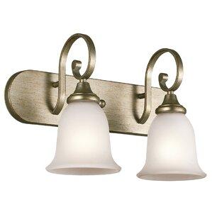 Bathroom Vanity Lights Gold gold bathroom vanity lighting you'll love | wayfair