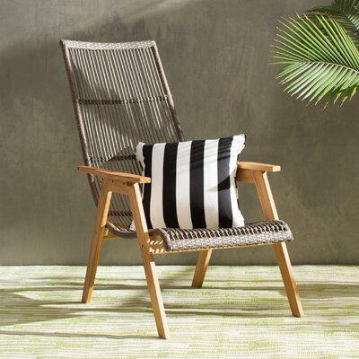 Kennebunkport Teak And Wicker Basket Lounge Chair