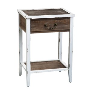 Marystone Distressed Wooden End Table