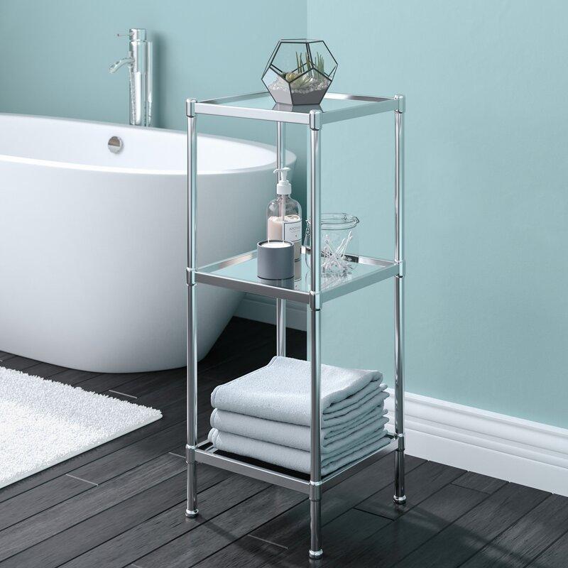 Rebrilliant Glacier 13 25 Quot W X 33 75 Quot H Bathroom Shelf