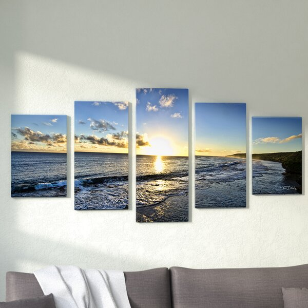 Well-liked Zipcode Design 'Day Break' 5 Piece Photographic Print on Wrapped  TY71