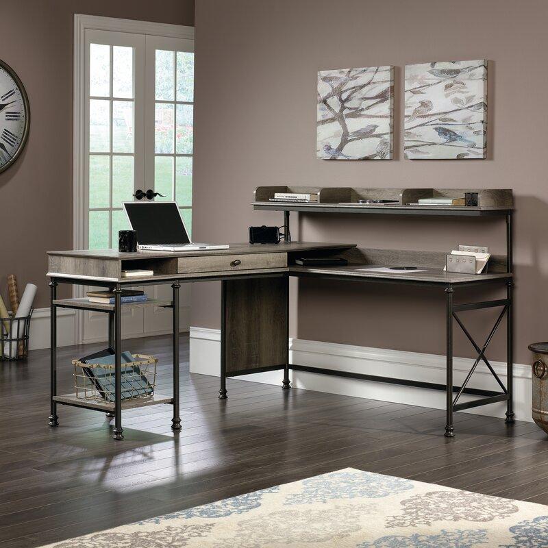 three posts oakside l shape computer desk with hutch reviews. Black Bedroom Furniture Sets. Home Design Ideas