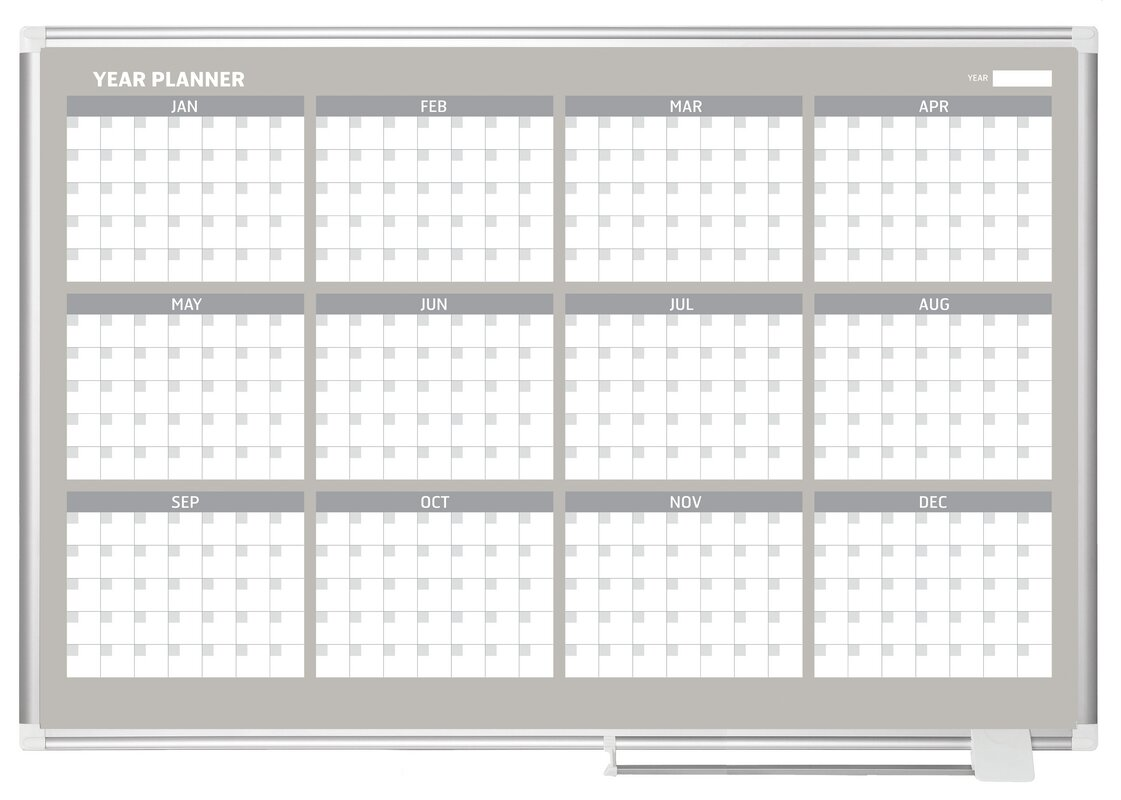 Year Calendar Magnetic : Mastervision month calendar wall mounted magnetic