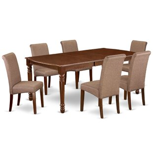 Lanagan 7 Piece Extendable Solid Wood Dining Set