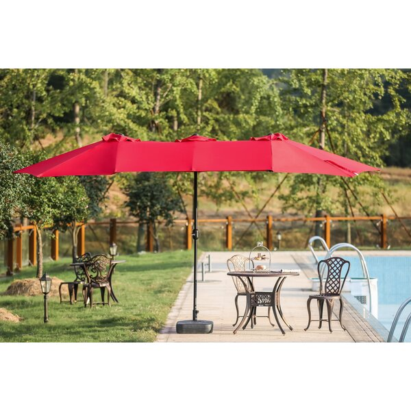 longshore tides zadie twin 9 x 15 rectangular market umbrella reviews wayfair - Rectangle Patio Umbrella