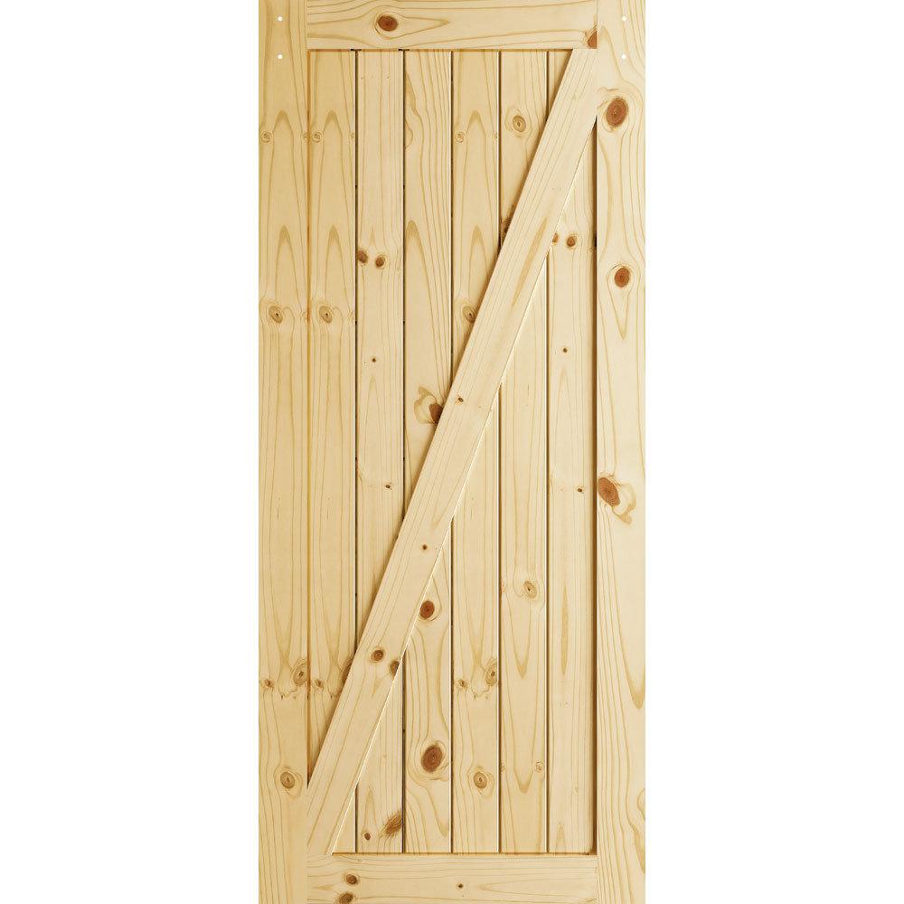 Frameport Z Brace Sliding Manufactured Wood Interior Barn Door Wayfair