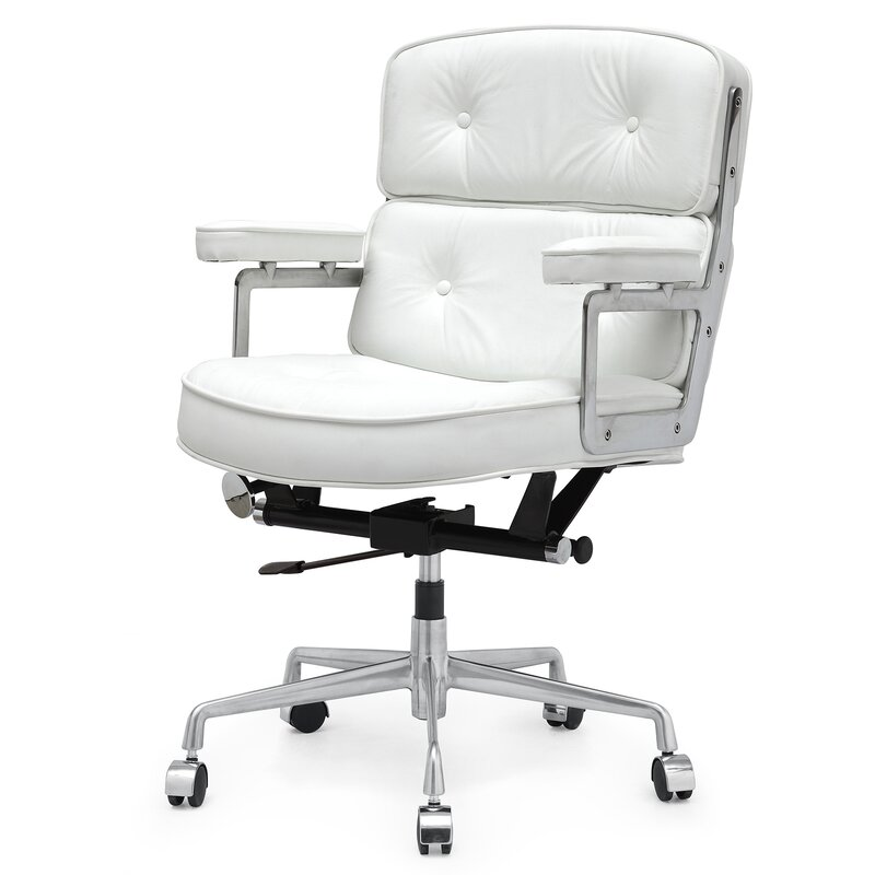 Meelano 16 Leather Office Chair With Lumbar Support Reviews