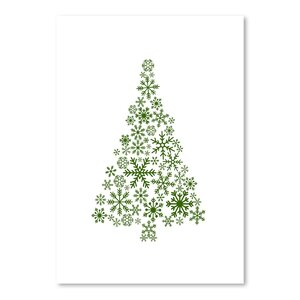 Green Snowflake Tree Poster Gallery Graphic Art