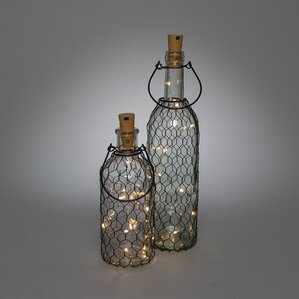 decorated glass bottles. Battery Operated Lighted Decorative Bottle Bottles You ll Love  Wayfair