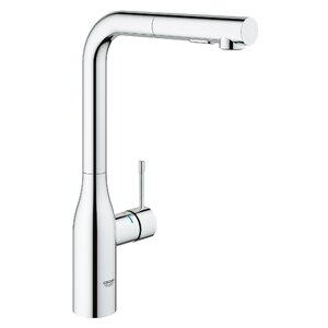 Essence New Single Handle Deck Mount Kitchen Faucet with Dual Spray Pull Out