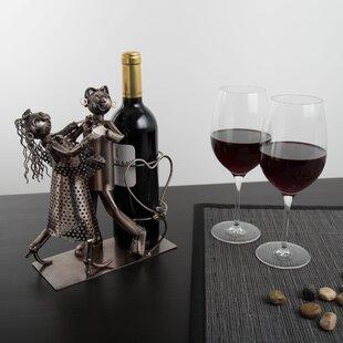 Galesburg Dancing Couple 1 Bottle Tabletop Wine Rack
