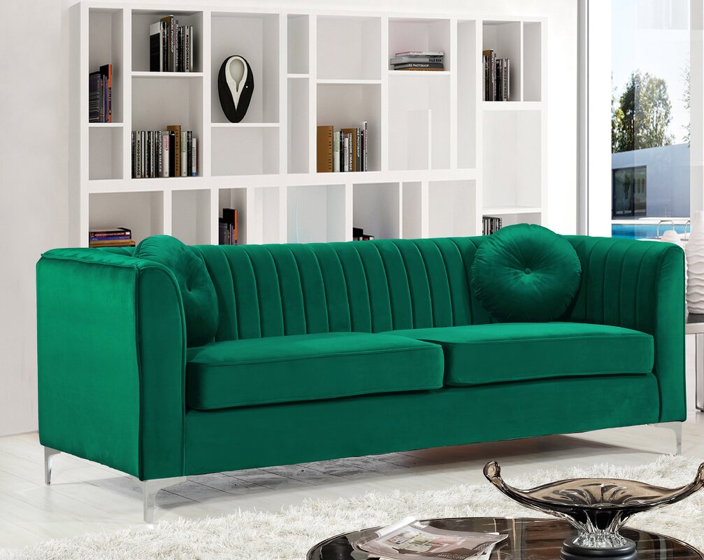 Willa arlo interiors herbert chesterfield sofa reviews - Willa arlo interiors keeley bar cart ...