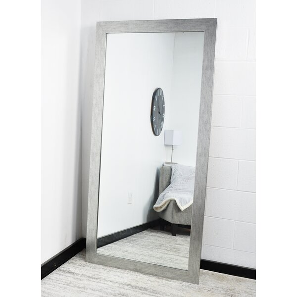 Full Length Mirror With Faux Leather Tufted Crystal Ons Frame Leaning Floor Modern 63 X