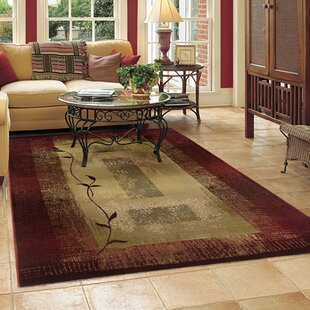 Matilda Dark Red Beige Area Rug