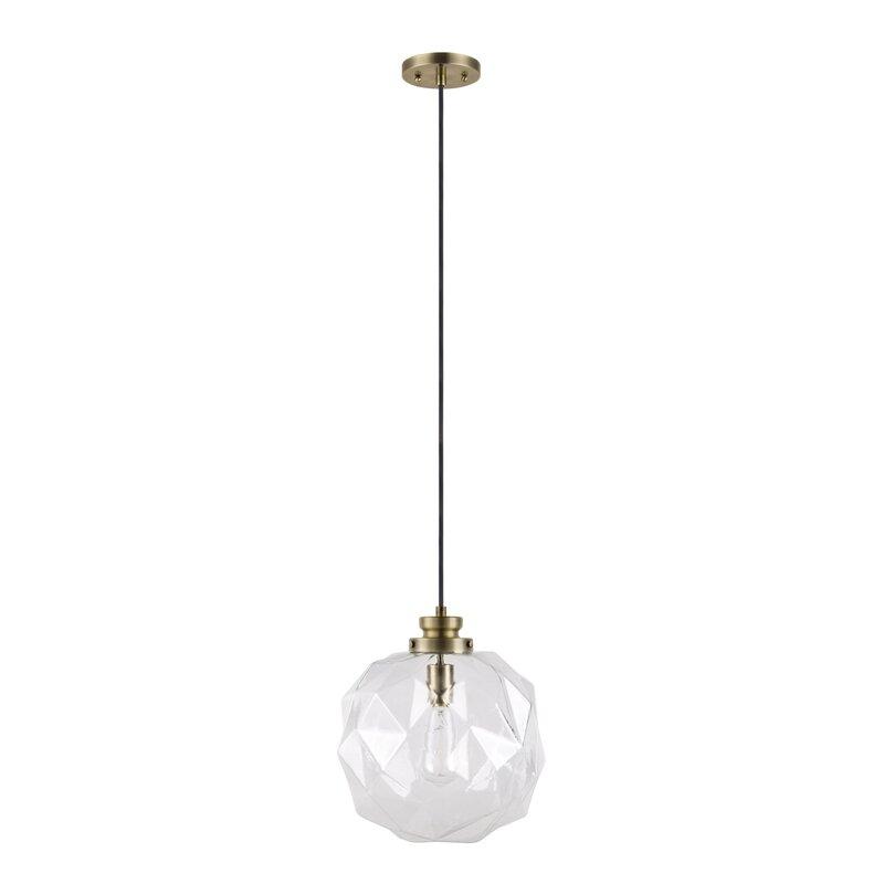 Mercury row 1 light globe pendant reviews wayfair 1 light globe pendant aloadofball Image collections