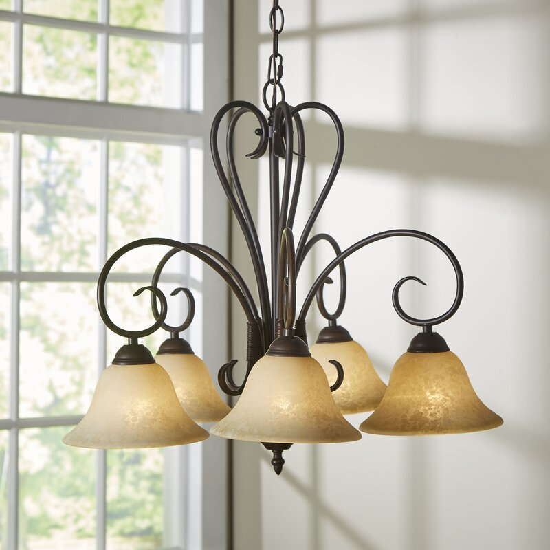 Gaines 5 Light Shaded Chandelier