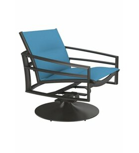 Merveilleux Kor Padded Sling Swivel Action Patio Chair