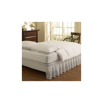 ettore wrap around eyelet ruffled bed skirt
