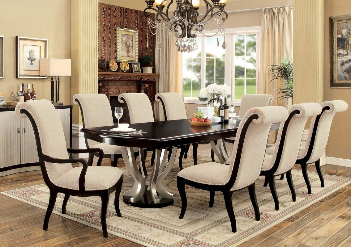 willa arlo interiors choncey 9 piece dining set u0026 reviews wayfair