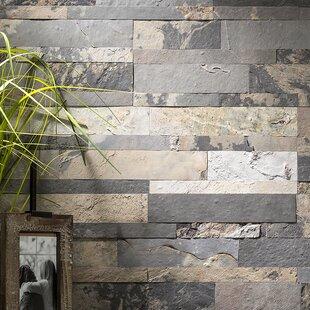 5 9 X 23 6 Slate L Stick Mosaic Tile In Medley