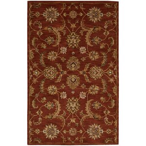Cortese  Hand-Woven Red/Brown Area Rug