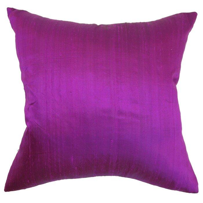 The Pillow Collection Ekati Plain Cotton Throw Pillow Cover
