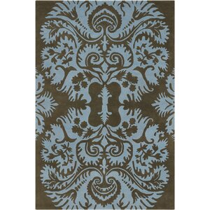 Burchell Brown/Tan Acanthus Area Rug