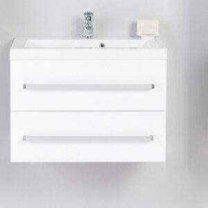 60 cm Wandbefestigter Waschbeckenunterschrank Al..